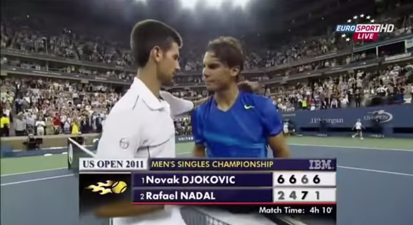 A l'issue d'une finale d'un niveau de jeu d'anthologie, Novak Djokovic s'adjuge l'US Open 2011 contre Rafael Nadal.