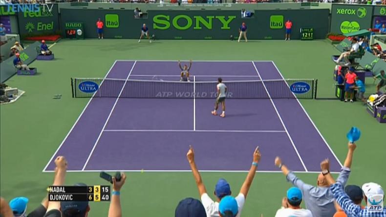 Novak Djokovic remporte le Masters 1000 de Miami 2014 contre Nadal à l'issue d'une superbe balle de match.