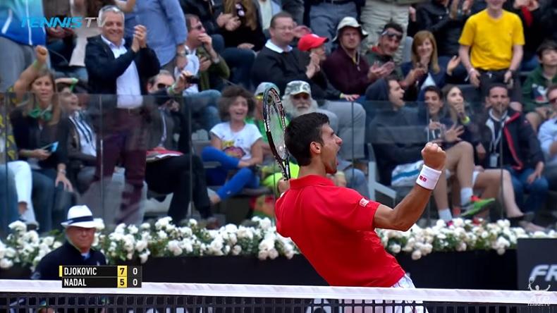 Les plus beaux points des matches Djokovic - Nadal à Rome. Une vidéo énorme.