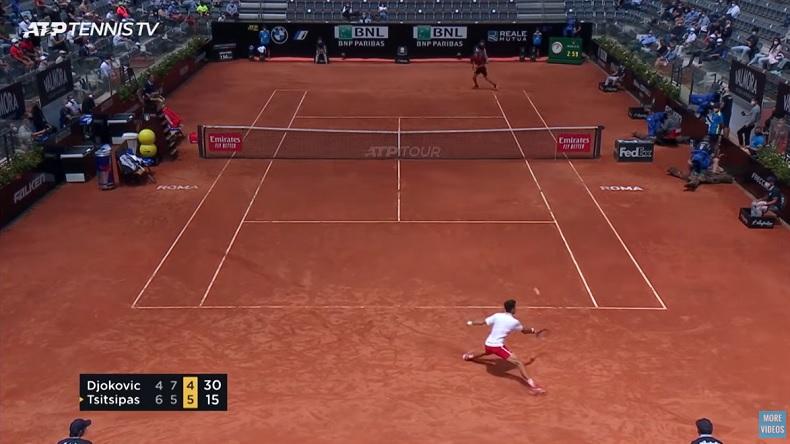 Novak Djokovic et Stefanos Tsitsipas ont joué un match énorme en quarts de finale du Masters de Rome 2021.