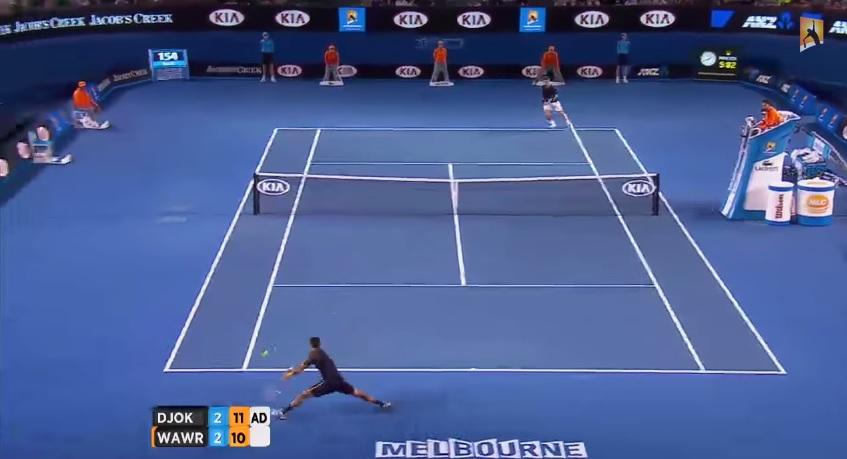 La balle de match épique entre Stanislas Wawrinka et Novak Djokovic en 8es de finale de l'Open d'Australie 2013.
