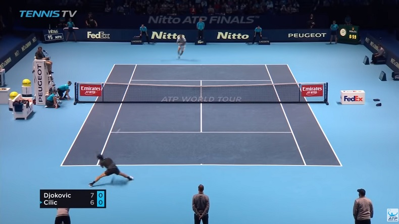 Marin Cilic a joué contre le mur Novak Djokovic et c'est le mur qui a gagné.