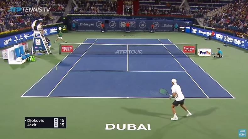 Les points brillants de Djokovic contre Jaziri à Dubaï.