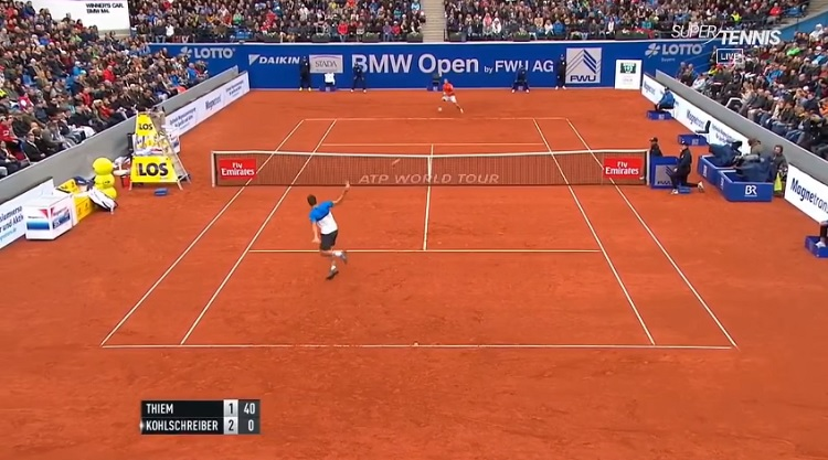 Dominic Thiem et son ar