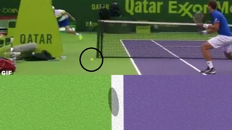 Un bug du Hawk-Eye et de l'arbitre sur un même point en finale du double à Doha.