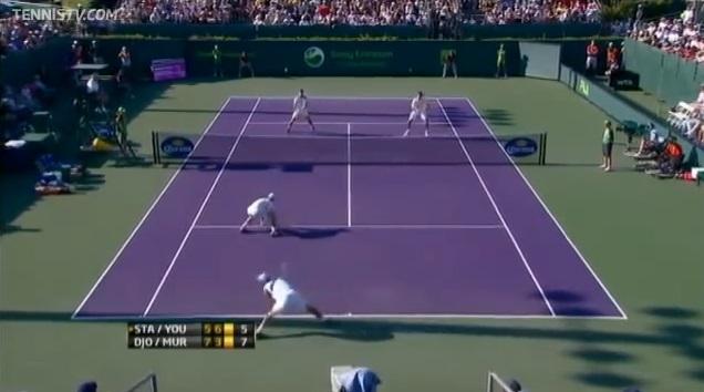 Un point génial en double mais Andy Murray tu n'avais pas le droit ! (Vous comprendrez en regardant la vidéo)