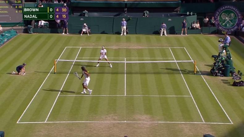 Dustin Brown a été excpetionnel pour battre Rafael Nadal à Wimbledon en 2015.