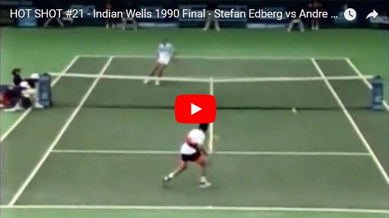 Stefan Edberg était monstrueux au filet.