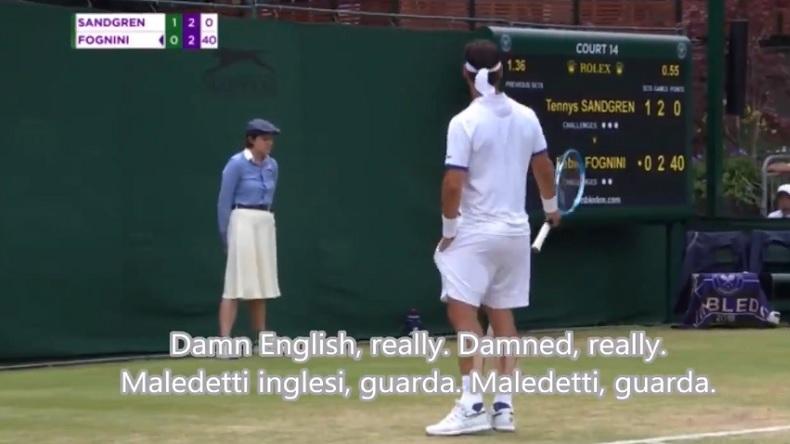 "Fabio Fognini craque à Wimbledon : ""une bombe devrait exploser dans ce club."""