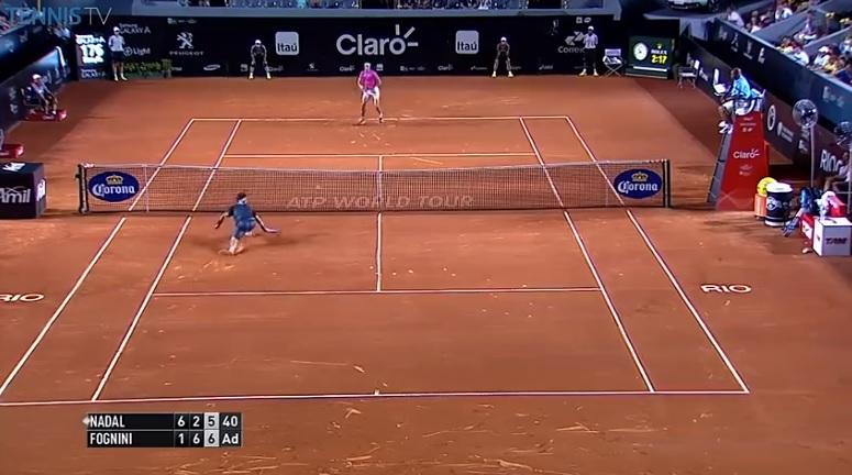 Fabio Fognini a fait parler ses cannes et son toucher de balle pour conclure le match contre Nadal.