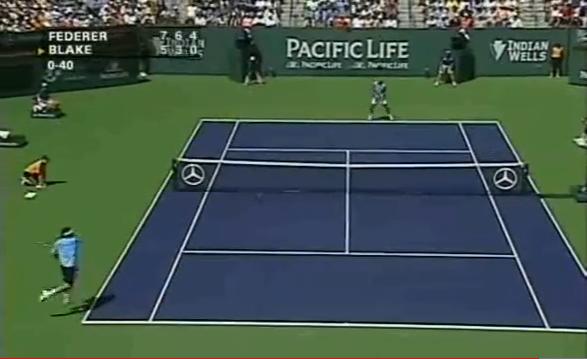Roger Federer et James Blake