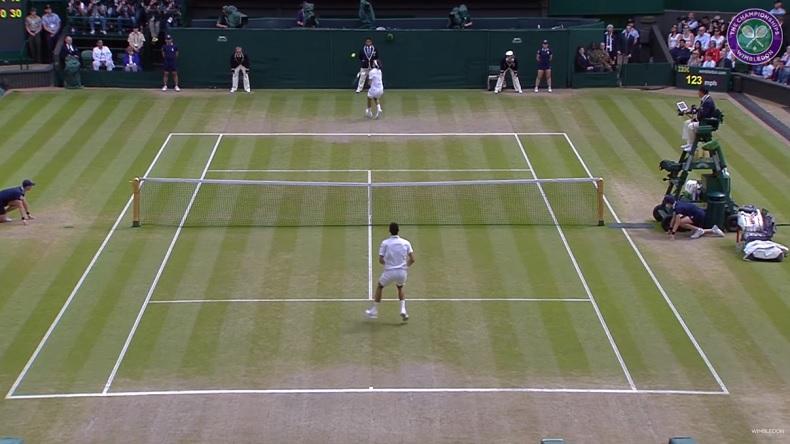 Les meilleurs points entre Federer et Djokovic à Wimbledon avant la finale de 2019.