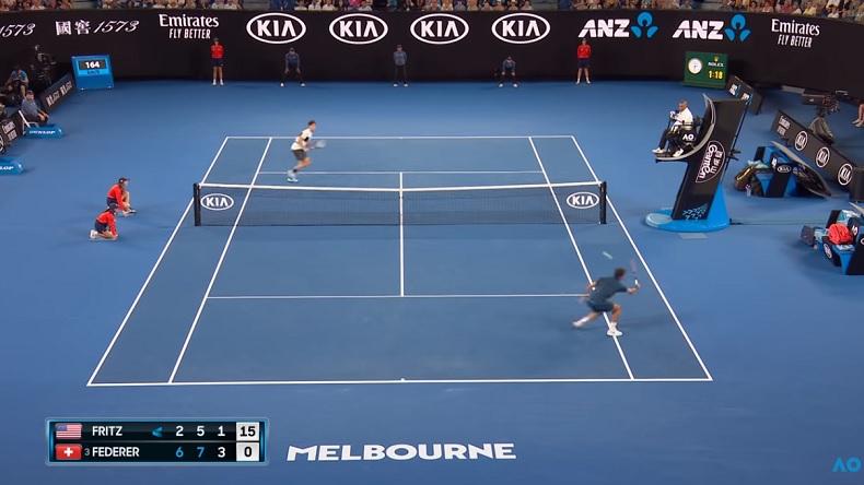 Roger Federer a fait jou-jou avec Taylor Fritz au troisième tour de l'Open d'Australie 2019.