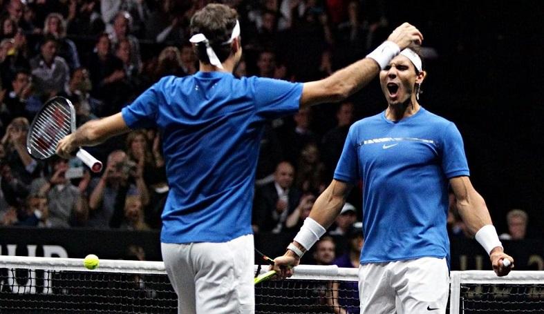 Bref, les légendes Nadal et Federer ont joué ensemble pour la première fois en double (Laver Cup 2017)