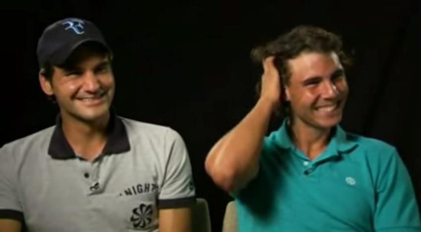 Roger Federer et Rafael Nadal sont partis dans un fou rire lors d'un tournage.