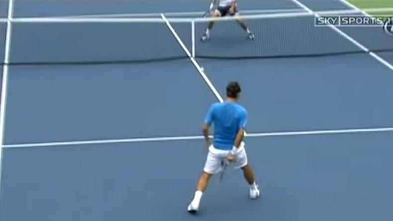 Les meilleurs points de Roger Federer lors de l'US Open 2006.