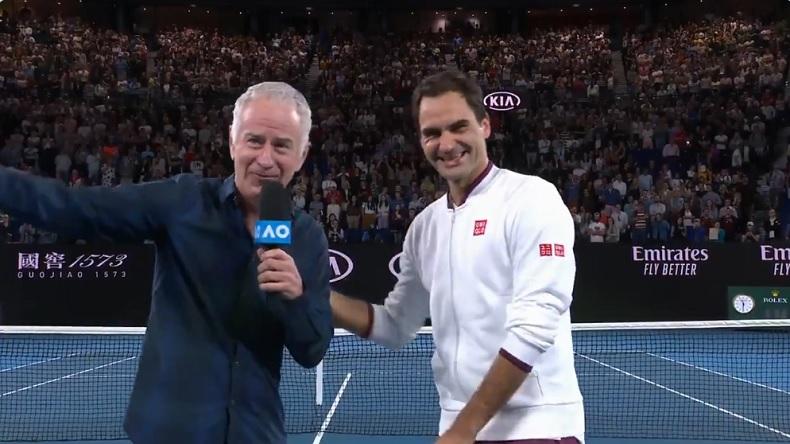 Un moment amusant entre Roger Federer et John McEnroe, à propos du prénom de l'Américain Tennys Sandgren.