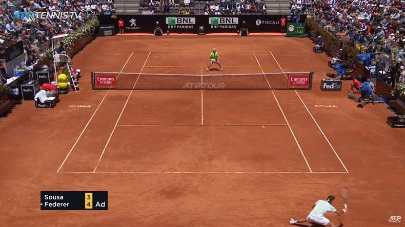 Quelle défense de Roger Federer au tournoi de Rome 2019.