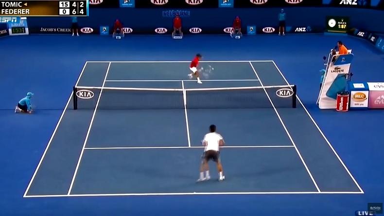 Quand Federer casse les reins de ses adversaires avec des feintes et des coups masqués.