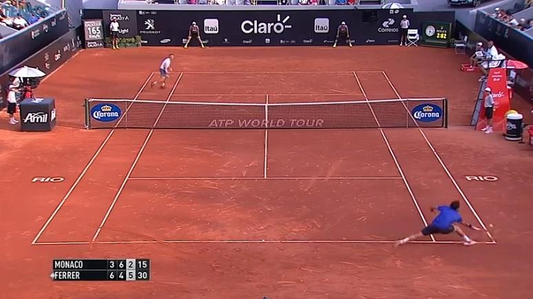 En bons terriens, David Ferrer et Juan Monaco