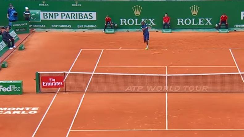 Ce coup droit de Gaël Monfils contre Nadal à Monte-Carlo est monumental.