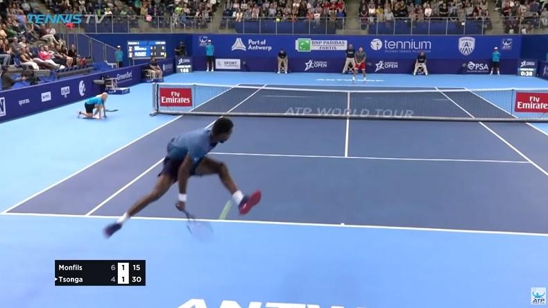Le tweener sauté de Gaël Monfils au tournoi d'Anvers 2018.