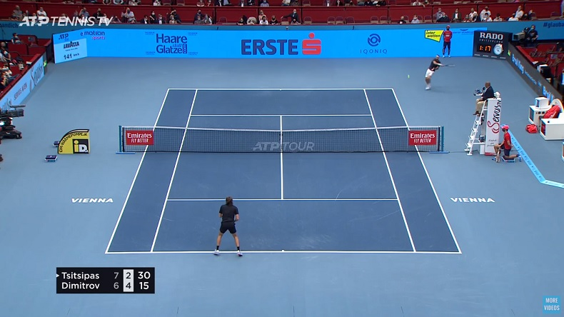Un retour gagnant fabuleux de Grigor Dimitrov contre Tsitsipas, en total déséquilibre, à Vienne.