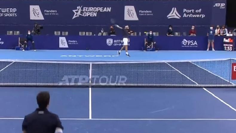 Les plus beaux revers de Grigor Dimitrov contre Pablo Andujar à Anvers 2020.