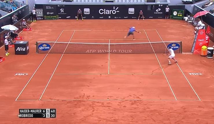 Andreas Haider-Maurer fait son entrée sur Tennis Legend avec un point brillant.