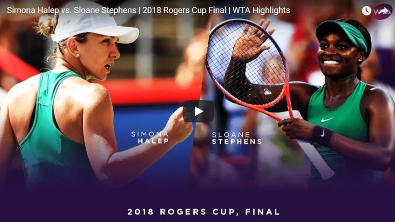 Simona Halep, à genoux, après un match sublime contre Sloane Stephens en finale du tournoi de Montréal 2018.
