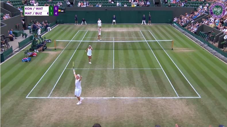 La joie de Henri Kontinen après un revers de martien à Wimbledon 2018.