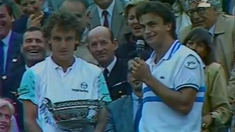 Le célèbre discours de Henri Leconte en finale de Roland-Garros 1988.
