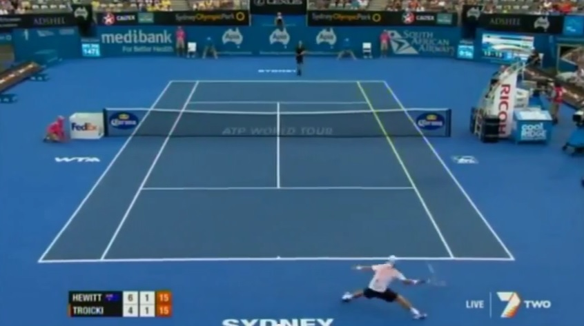 Une défense impressionnante de Lleyton Hewitt à Sydney en 2012.