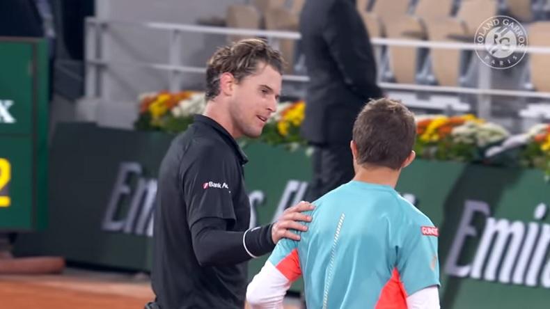 Hugo Gaston a fait vivre un calvaire à Dominic Thiem à Roland-Garros.