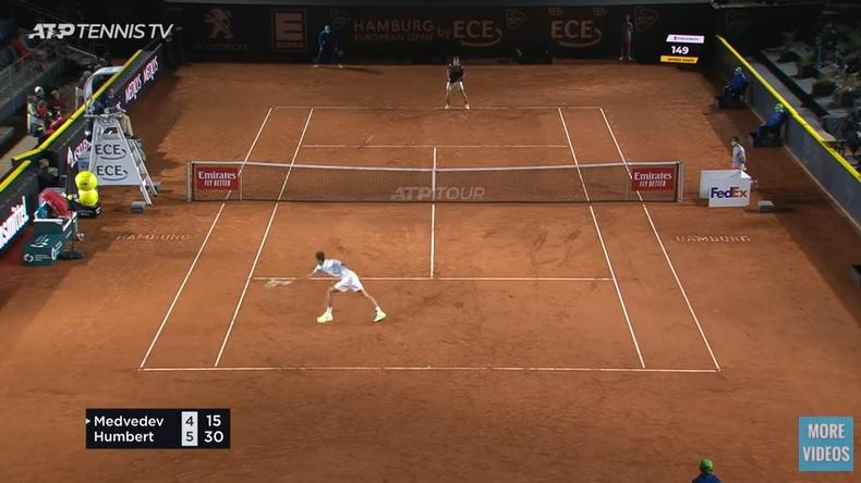 Un point de légende gagné par Humbert contre Medvedev à Hambourg.