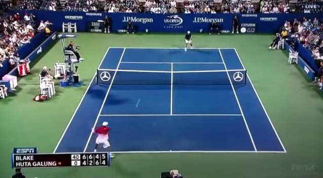 James Blake a frappé le coup droit le plus rapide de l'histoire du tennis à l'US Open 2011.