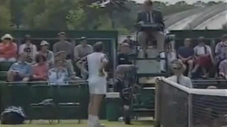 Le célèbre clash entre Jeff Tarango et l'arbitre français Bruno Rebeuh à Wimbledon 1995.