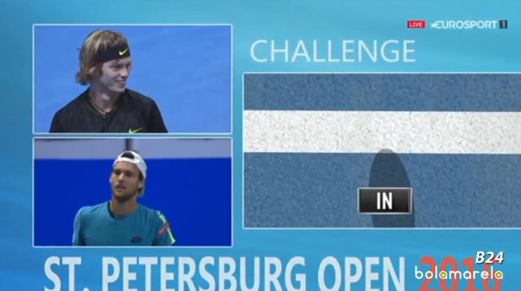 Fair-play, Joao Sousa avait conseillé à Andrey Rublev de demander le Challenge. Il avait vu juste.