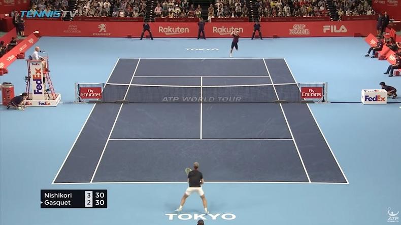 La pureté du revers à deux mains de Kei Nishikori a fait mal à Richard Gasquet à Tokyo.