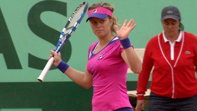 Dans la série des coups chanceux, Kim Clijsters ne fait pas semblant.