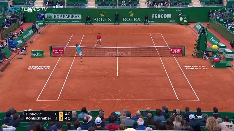 Philipp Kohlschreiber joue l'homme et allume Djokovic à Monte-Carlo.