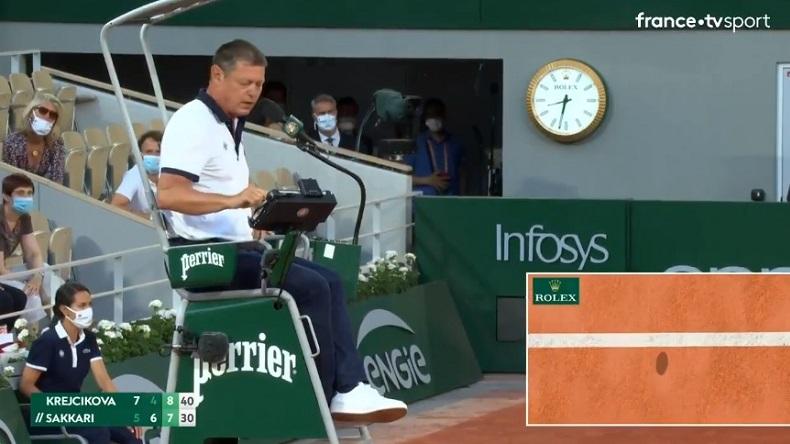 Barbora Krejcikova aurait dû être en finale de Roland-Garros quelques instants plus tôt d'après le hawk-eye.