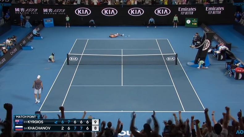 Un match fabuleux entre Kyrgios et Khachanov à l'Open d'Australie 2020.