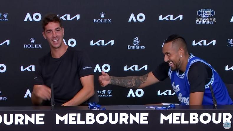 Une conférence de presse amusante avec Nick Kyrgios et Thanasi Kokkinakis, après leur victoire en double à l'Open d'Australie.