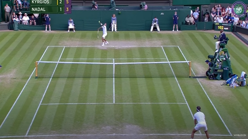 En 2014, Nick Kyrgios s'était révélé aux yeux du grand public en éliminant le numéro un mondial Rafael Nadal en huitièmes de finale de Wimbledon.