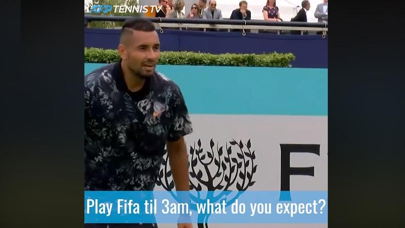 Les conseils de Nick Kyrgios pour bien préparer un match : jouer à FIFA jusqu'à 3h du mat.
