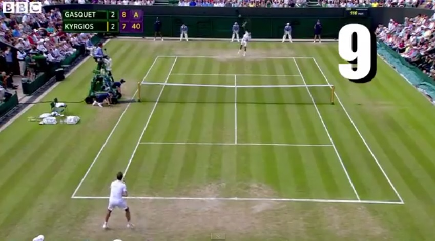 Nick Kyrgios a sauvé neuf balles de match pour battre Richard Gasquet au deuxième tour de Wimbledon 2014.