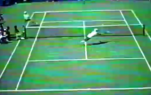 Un point génial entre Leander Paes et Andre Agassi à l'US Open 1996.