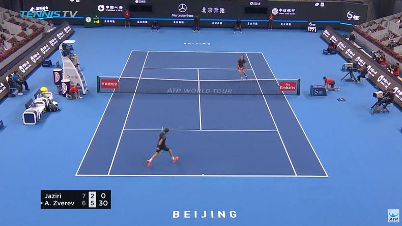 Ce tweener de Malek Jaziri au tournoi de Pékin 2018 est magnifique.