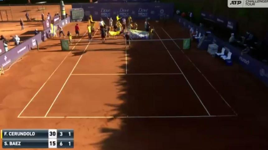 Un match interrompu par des manifestants en finale du Challenger de Concepcion 2021.